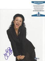 JULIA LOUIS-DREYFUS SIGNED AUTHENTIC 'SEINFELD' 8x10 PHOTO BECKETT COA BAS