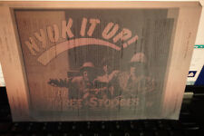 Three Stooges Nyuk it up Iron on Decal  promo 1990's comedy Curly Howard
