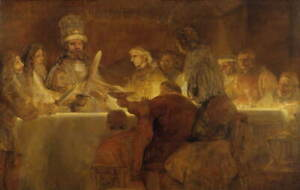 Rembrandt The Conspiracy of the Batavians Giclee Paper Print Poster Reproduction