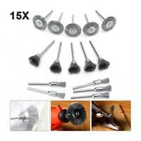 15X Polishing Wire Brush Stainless Steel Brushes Polishing Wheels  Rotary Tool