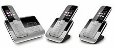 T-Sinus A806 Trio Schnurlos Telefon 3 Mobilteilen Anrufbeantworter Schnurloses