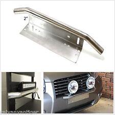 1pcs 23'' Silver Front Bumper License Plate Mount Bracket Holder Off-Road Lights