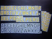 LETTERE UFFICIALI JUVENTUS HOME/AWAY 2008-2010 OFFICIAL LETTERS