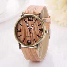 Vintage Wood Grain Watches Fashion Casual Women Quartz Watch Wristwatch Gift US