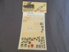 337G ESCI Decal USA 1:30 / 1:40 M24 Sherman M1-M5 Howitzer M109 WWII Ref 19