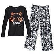 NWT Girls Carter's Halloween Pajamas Size 4 Fleece Pjs Black Cat Winter 2pc NEW