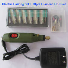 Mini Electric Wood Carving Tools Set  Engraving Chisel Pen with 30pcs Drill