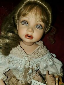 "Florence Maranuk Show-Stoppers JILLIAN ""PIERCING EYES"" seated Porcelain Doll"