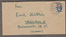 8-7-1946 cover French Zone 24F solo Germany Tullungen to Munchen