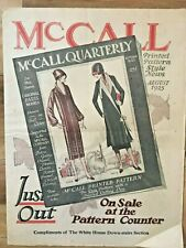 1925 Aug Vintage Sewing Pattern McCall Pattern Catalogue Roaring 20's Cloche Hat