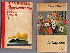 cesare pavese,la bella estate - luigi capuana il marchese di roccaverdina -10 eu