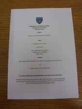 19/04/2014 Portsmouth v Bristol Rovers - Match Day Hospitality Menu, A5 Colour,