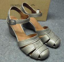 GENTLE SOULS Metallic Antique Gold Bridge MT Shoes Sz. 9.5m NIB Kenneth Cole