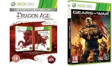 dragon age origins ultimate USED  & gears war judgment NEW&SEALED Xbox 360 PAL