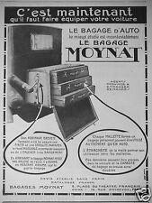 PUBLICITÉ 1923 MOYNAT LE BAGAGE D'AUTOMOBILE LE MIEUX ÉTUDIÉ