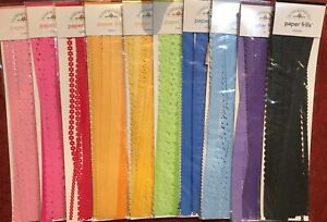 Pick 1 Doodlebug Design Paper Frills Scrapbook Borders 10 Colors to choose from