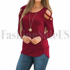 Женская толстовка с длинным рукавом свободные с ремешками холодный прием топы основной футболки блузка