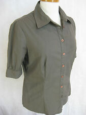 Jacob Size M Designer Khaki Brown blouse