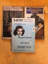More details for spider's web programme savoy theatre ~1956 plus 2 vintage agatha christie books