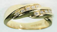 Ladies 14K Yellow Gold Diamond Wedding Right Hand Band Estate Ring J237357