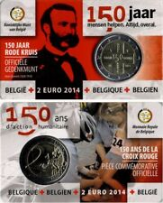 2 EURO COMMEMORATIVA BELGIO 2014 - 150° DELLA CROCE ROSSA IN BELGIO - COIN CARD