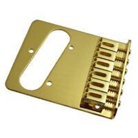 NEW Bridge TELECASTER PU single 6 saddles gold - vis gold - guitare Fender TELE