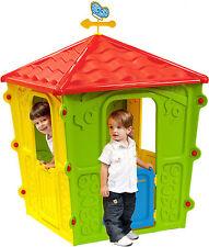 Casetta giochi bimbi bambini Country in resina giardino esterno 108x108x152 h