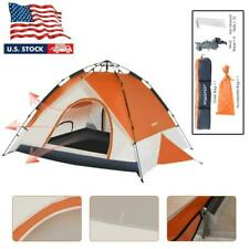 New listing Pop up Camping Tent Outdoor Waterproof 3-4 Person Folding Cabin Tent Hiking New