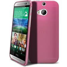 Funda para HTC One 2 (M8) Semi Rígido Gel Extra Fina mate/brillante Rosa