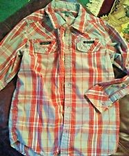 Girls Blouse Size M by Dinky Red & Gray Plaid     +