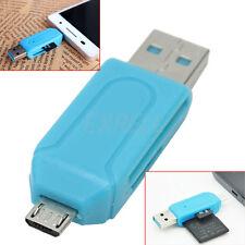 Lettore Schede di Memoria Card Reader USB Micro USB SD T-Flash Cellulari PC