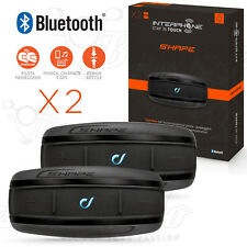 CELLULARLINE INTERPHONE SHAPE KIT DOPPIO SET 2 INTERFONI CASCO MOTO BLUETOOTH
