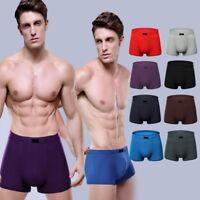 Mens Boxer Briefs Bamboo Fiber Breathable Underwear Trunks Underpants Knicker