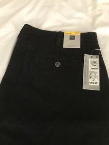 M&S Mens Black Skinny Chinos Jeans Waist 38 Ins Extra Short inside leg 27 Ins.