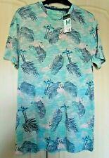 BNWT Men's T-Shirt - Flamingo/Palm Tree Print - Green/Pink - Primark - Size M