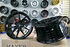 New 20 inch 5x114.3 HAXER BLACK concave wheels for FORD MUSTANG NISSAN LEXUS rim