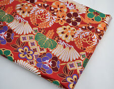 "28"" JAPANESE KIMONO SILK DAMASK JACQUARD BROCADE FABRIC: JAPANESE ELEMENTs ="