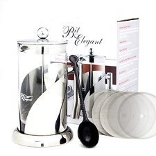 Deluxe French Press Coffee Leaf Tea Maker 8 Cups Stainless Steel Plunger 34 Oz