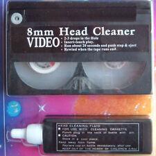 Hi8 Caméscope Vidéo sec humide Head Cleaner Pack. Avec 8 mm de nettoyage de bande & fluide