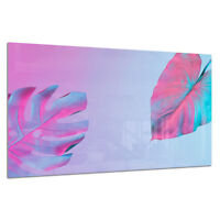 Tempered Glass Photo Print Wall Art Picture Surreal Neon Palms Prizma GWA0359