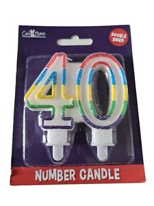Birthday Cake Candles.  40th Double Sided