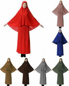 Gebetskleidung Hijab Muslim Prayer Khimar Overhead Jilbab Burka Robe Set