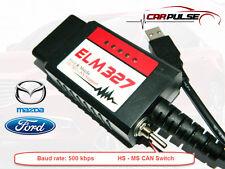 ELM327 USB FTDI  Elm Config fur Mazda Ford MS-HS CAN OBD2 FORScan 500 kbps