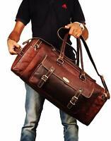 Weekender Bag Leather Travel Bags For Men Vintage Leather Duffle Bag Women