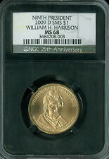 2009-D WILLIAM HARRISON PRES. DOLLAR NGC MS68 SMS RETRO 2ND FINEST SPOTLESS .