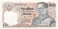 Thailand  10  Baht  ND.  1980  P 87  Series  6 B  Circulated Banknote