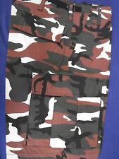 Schnäppchen ! Shorts kurze Army Hose red camouflage Gr. XS  mit 6 Taschen
