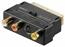 Adapter Scart auf SVHS 3x Cinch IN/Out vergoldet  #n223