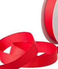RED GROSGRAIN RIBBON 20m ROLL 15mm WEDDING CHRISTMAS GIFTS TREE DECORATIONS NEW