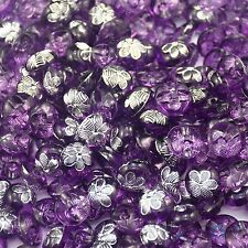 100pcs Resin Purple Flower Button Lots Scrapbook Sewing Craft Card 12MM